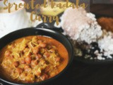 Kerala kadala curry (with sprouted black Channa)