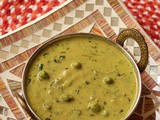 Methi mutter malai recipe | Fenugreek green peas curry