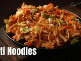 Roti Noodles with leftover chapathi | chapathi noodles