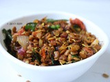 Sprouted horse gram stir fry | sprouted kollu sundal