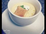 Chilled Corn Soup blt Goat Cheesecake