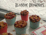 Dried Asian pears fresh cranberries blondie brownie muffins