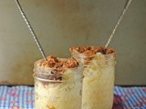 5 Minute (Microwave) Coffee Cake in a Jar ~ #SundaySupper Desserts In Jars Summer Tour