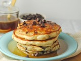 Chocolate Chip Pancakes with Maple Butter Syrup ~ a Mom Dish