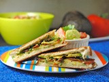 Easy Summer Lunch Recipes {Avocado, Bacon, & Chimichurri Grilled Cheese with Tomato & Avocado Salad}! #ILoveAvocados