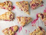Lemon-Glazed Raspberry Scones ~ Mother's Day #SundaySupper