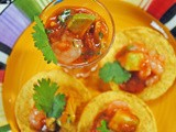 Mexican Shrimp Cocktail Shooters ~ a #SpicyChat Guest Post at The Primlani Kitchen