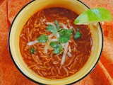 Sopa de Fideo ~ a Guest Post at a Culinary Journey with Chef Dennis