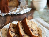 Banana chocolate pecan bundt cake