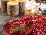 Cranberry upside down cake and Happy Sinterklaas-evening