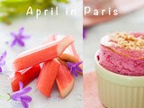 Rhubarb souffle for April in Paris