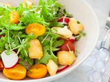 Tomato, rocket and halloumi salad and 12wbt update