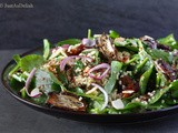 Baby Spinach Salad with Dates & Almonds