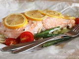 Baked Salmon Packets with Vegetables