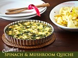 Crustless Spinach Mushroom Quiche with Zucchini Salad
