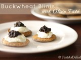 Food Writer Friday, Buckwheat Blinis with Olive Pâté & Masala Herb