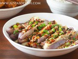 Korean-style steamed eggplants