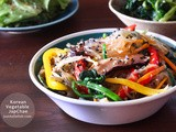 Korean Vegetable Japchae (Stir Fry Noodle)