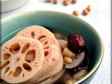 Lotus Root Soup with Peanuts & Red Dates