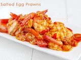 Salted Duck Egg Yolk Prawns