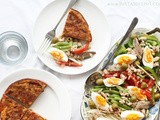 Spanish Tortilla De Patatas with Niçoise Style Salad