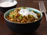 Spicy Minced Lamb with Peas and Rice