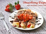 Strawberry Crepes with Whipped Cream Filling
