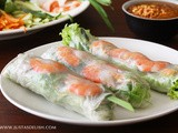 Vietnamese Shrimp Rolls with Peanut Hoisin Sauce (Gỏi Cuốn with Nước Lèo)
