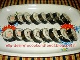 Simple Chicken Sausage Sushi