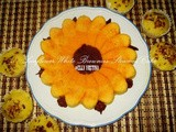Sun Flower White Brownies Steamed Cake / White Brownies Kukus Bunga Matahari