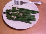 Asparagus with Blue Cheese and Oregano