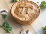 Spicy Potato Pie Crust with Mushroom Broccoli Filling