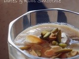 Dates,Banana and Kiwi Smoothie