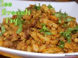 Aloo Broccoli Fry | Potato Broccoli Subzi