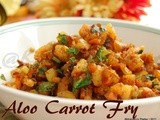 Potato Carrot Vepudu | Aloo Carrot Fry