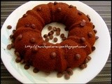 Eggless Wheat Chocolate Chip Cake