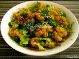 Gobi Matar Sabzi / Cauliflower and Green Peas Stir Fry