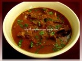 Maharashtrian lamb curry / Kolhapuri tambda rassa / Spicy Mutton Curry / Mutton Rassa