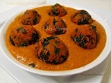 Palak Paneer Kofta Curry / Spinach and Cottage Cheese Kofta Curry Recipe