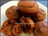 Wheat banana chocolate chip muffins