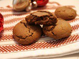 Caramel Stuffed Gingerbread Cookies