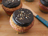 Orange Cornmeal Cakes with pb Chocolate Buttercream