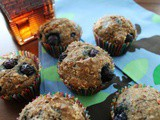 Whole Wheat Carrot Blueberry Muffins