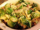 Brussels Sprouts with Bacon, Apple and Cheese