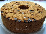 Chocolate Chip Chiffon Cake