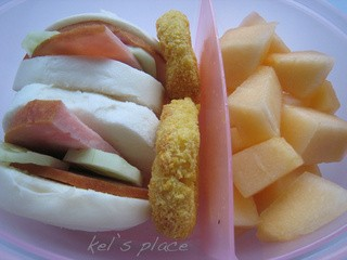 Ham Mantou and Nuggets Bento (372)