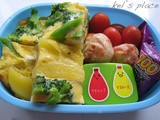 Potato & Broccoli Frittata Bento (384)