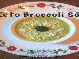 Priya's #Keto Vegetarian Broccoli Soup