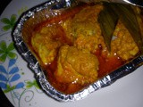 Baked curry chicken in foil