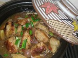 Braised chicken wings with shallots
